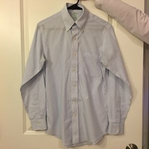 Brooks Brothers Blue / White Pinstriped Button Dow